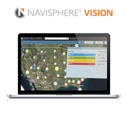 Navisphere Vision dashboard screen